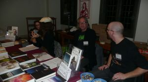 Tony Burgess and Brett Savory at the Chizine table