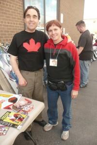 CaptainCanuck & Michele (love the T-Shirt!)