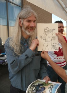 Todd with a super-Todd drawing