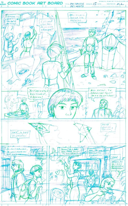 Adalou page 15 blue-green pencilling