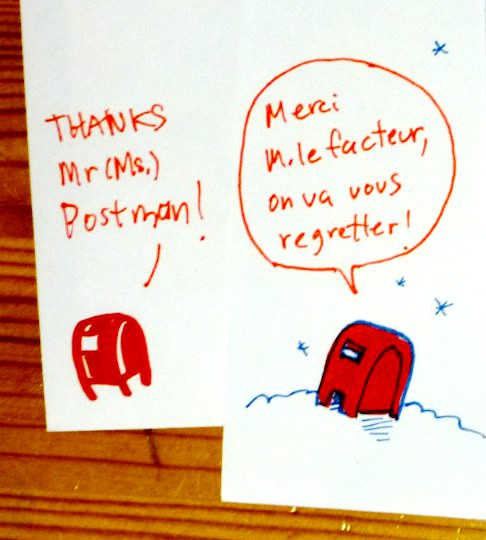 A warm thank-you (in English and French)