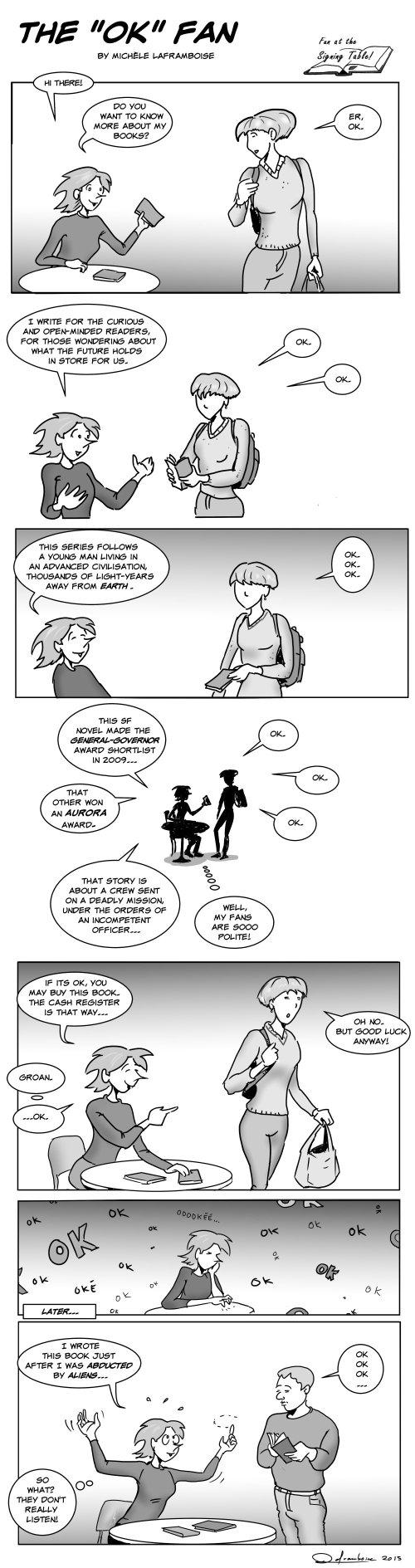 The OK Fan ,: when the fan doesn't really listen to your presentation...